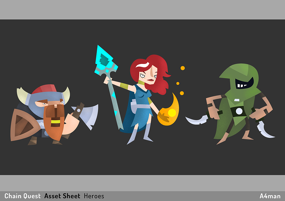 Chain Quest  Asset Sheet A4man 05
