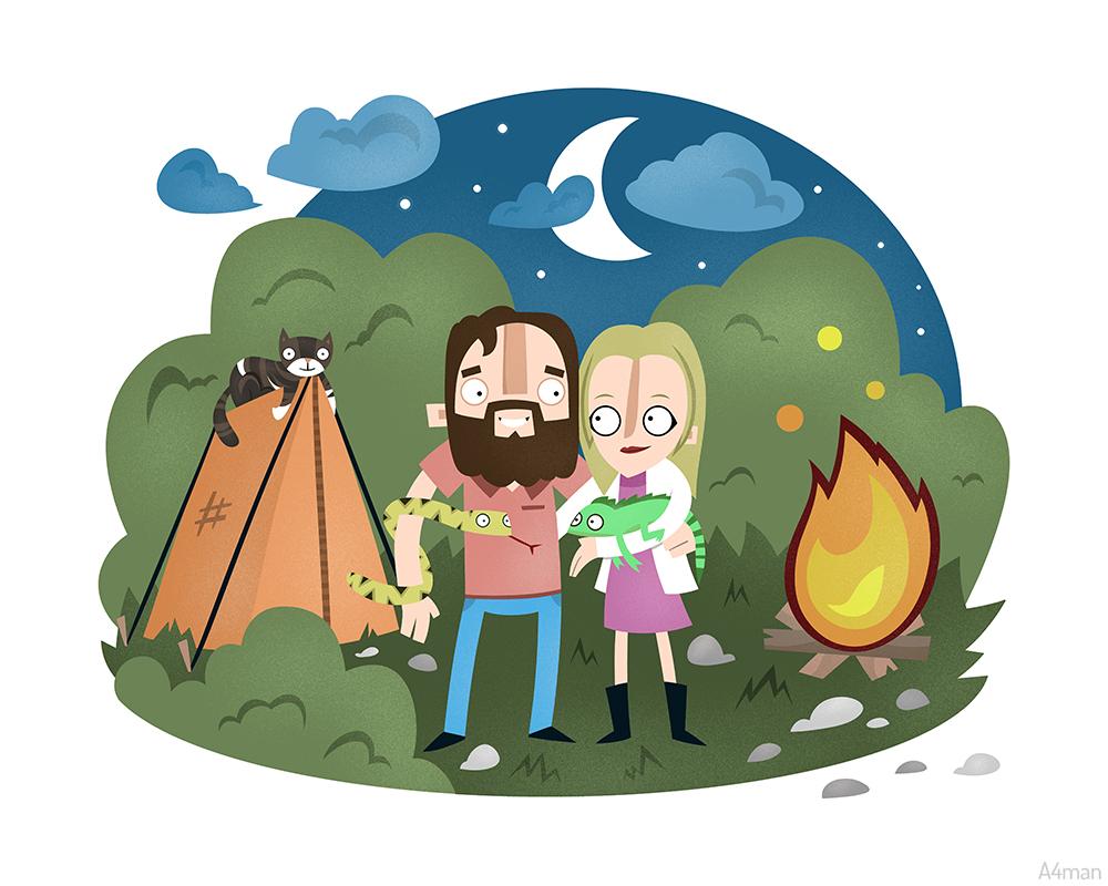 Camping A4man