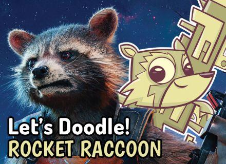 lets_doodle_rocket_raccoon_a4manartist