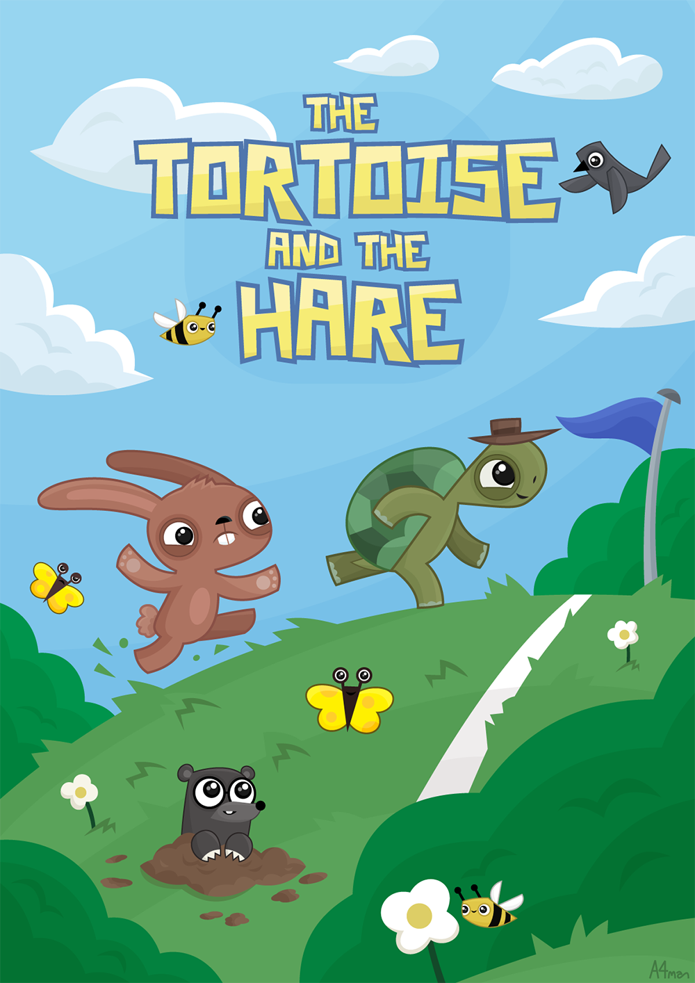 the_tortoise_and_the_hare_a4manartist